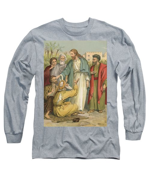 Jesus And The Blind Men Long Sleeve T-Shirt