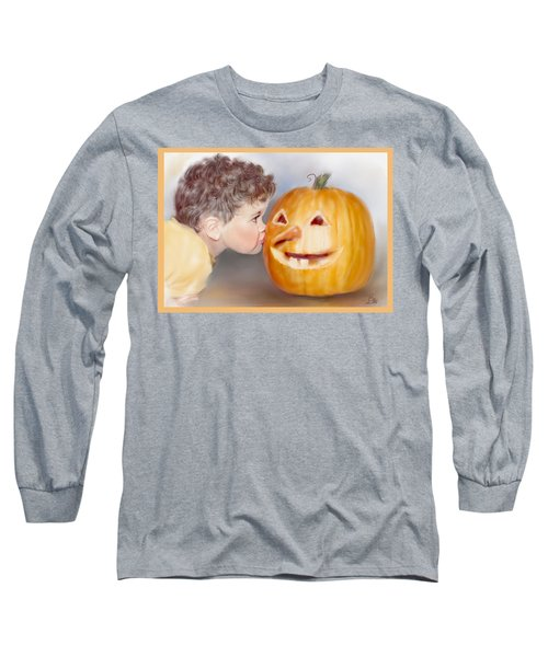 Long Sleeve T-Shirt featuring the painting Kissy Face by Bonnie Willis