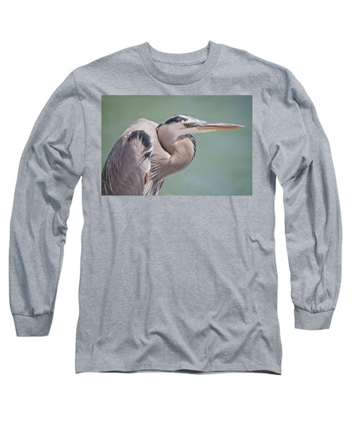Long Sleeve T-Shirt featuring the photograph La Garza by Steven Sparks