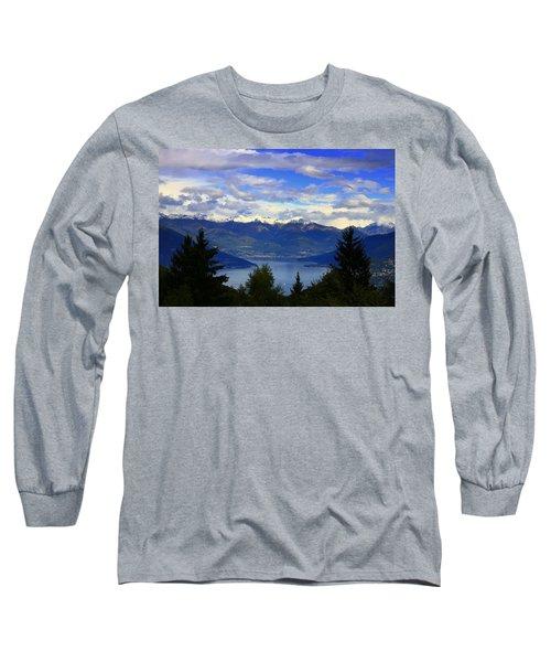 Lake Of Como View Long Sleeve T-Shirt