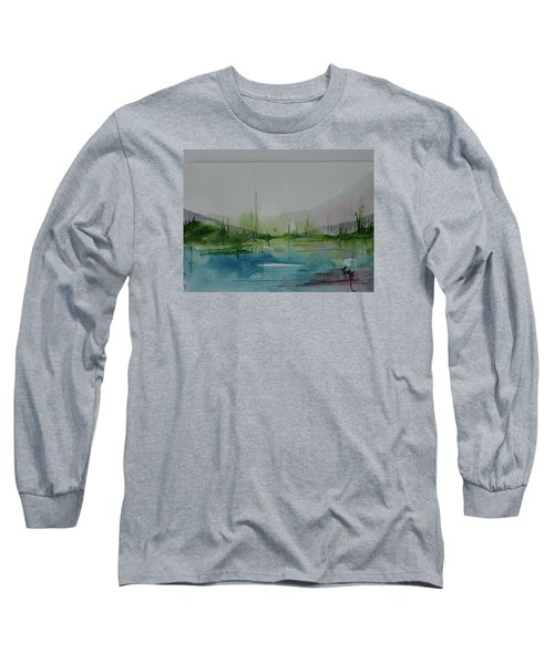 Lake Study 3 Long Sleeve T-Shirt by Robin Miller-Bookhout