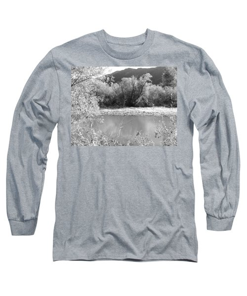 Lakeside Mountain View Long Sleeve T-Shirt by Kathleen Grace