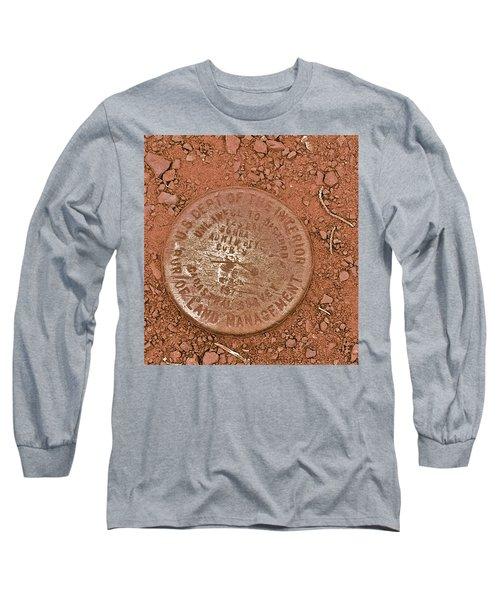 Long Sleeve T-Shirt featuring the photograph Land Survey Marker by Bill Owen