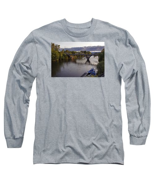 Last Light On Caveman Bridge Long Sleeve T-Shirt by Mick Anderson