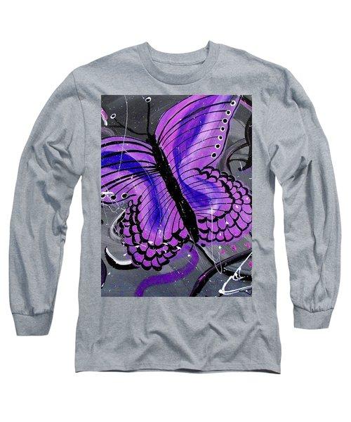 Lavendar Ripple Long Sleeve T-Shirt