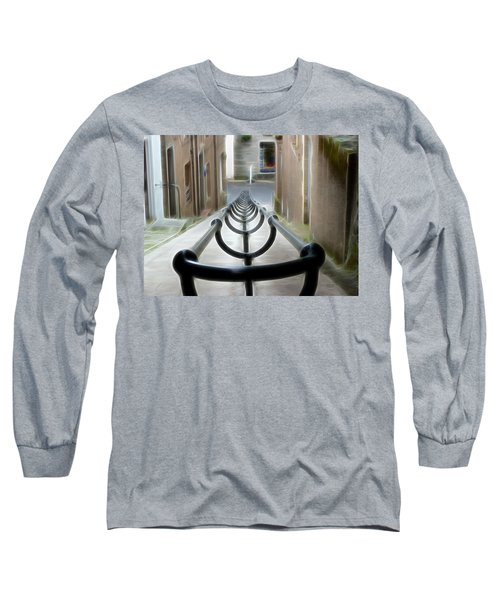 Long Sleeve T-Shirt featuring the photograph Lerwick Lanes by Lynn Bolt