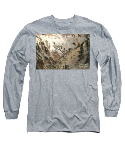 Light And Shadows In The Grand Canyon In Yellowstone Long Sleeve T-Shirt by Living Color Photography Lorraine Lynch