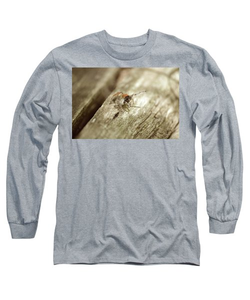 Long Sleeve T-Shirt featuring the photograph Little Jumper In Sepia by JD Grimes
