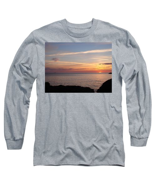 Long Sleeve T-Shirt featuring the photograph Lone Freighter On Up by Bonfire Photography