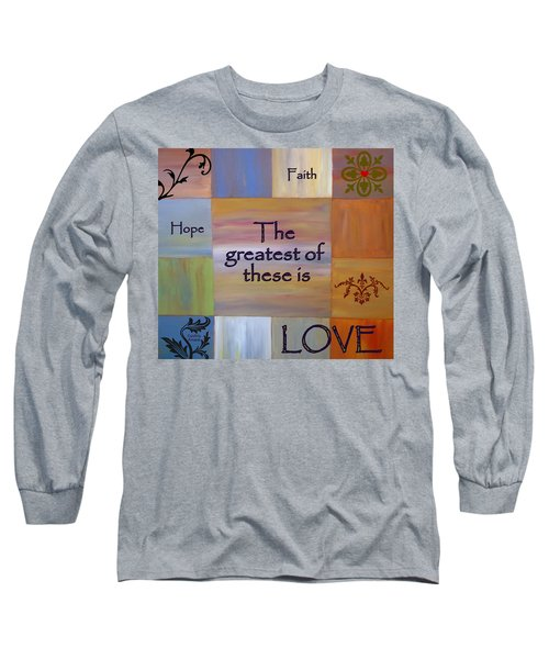 Long Sleeve T-Shirt featuring the painting Love Is Everything by Cynthia Amaral