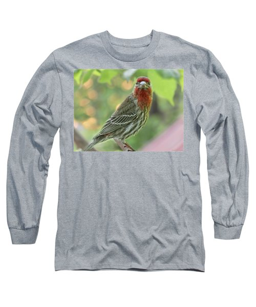 Long Sleeve T-Shirt featuring the photograph Male House Finch by Debbie Portwood