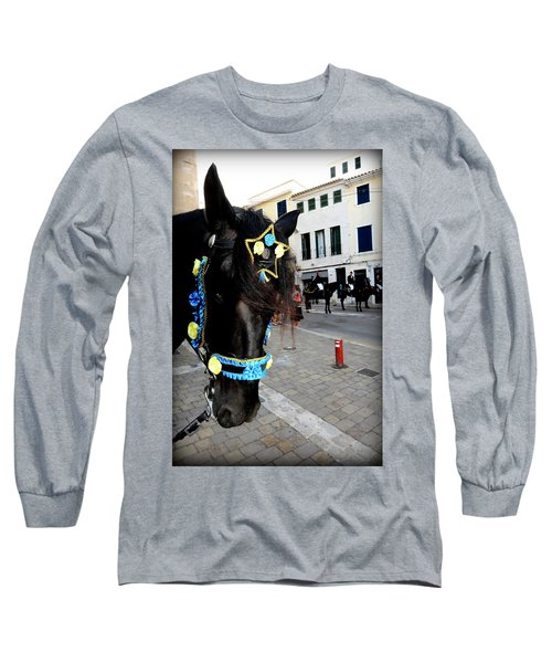 Long Sleeve T-Shirt featuring the photograph Menorca Horse 1 by Pedro Cardona
