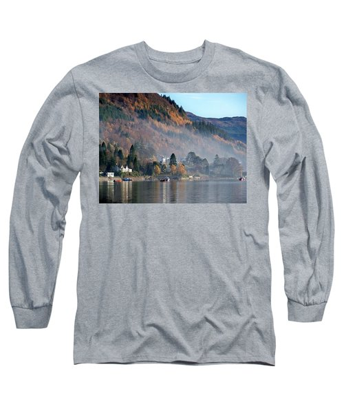 Long Sleeve T-Shirt featuring the photograph Misty Autumn Morning by Lynn Bolt