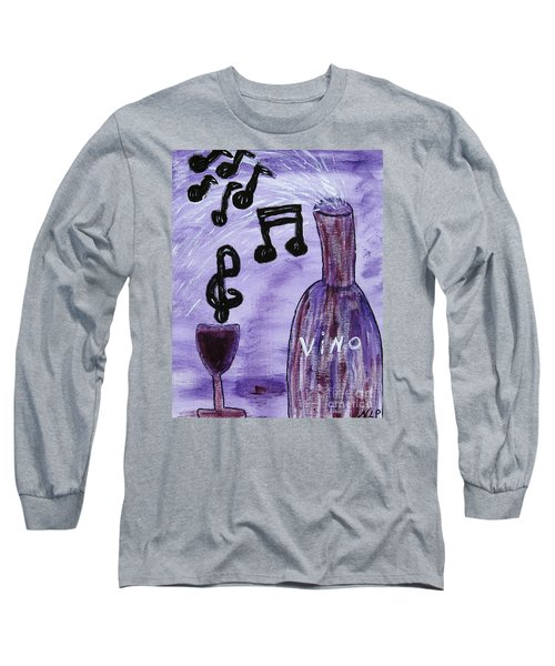 Music In My Glass Long Sleeve T-Shirt