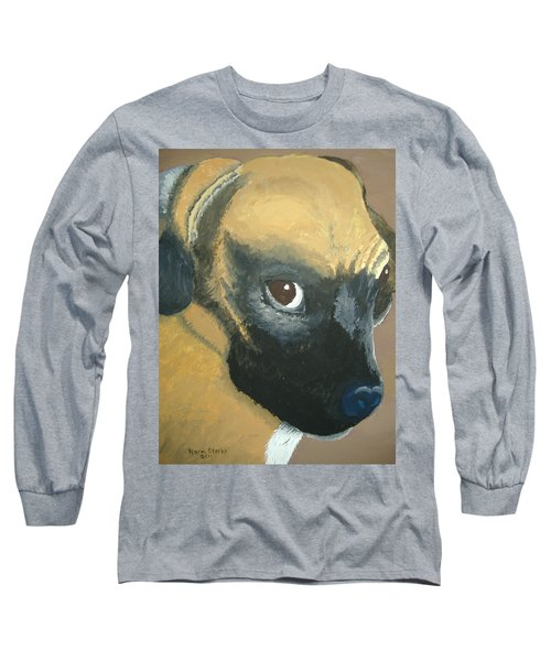 Long Sleeve T-Shirt featuring the painting My Name Is Attitude by Norm Starks