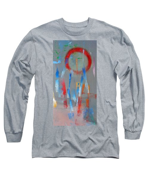 Native American Abstract Long Sleeve T-Shirt by Charles Stuart