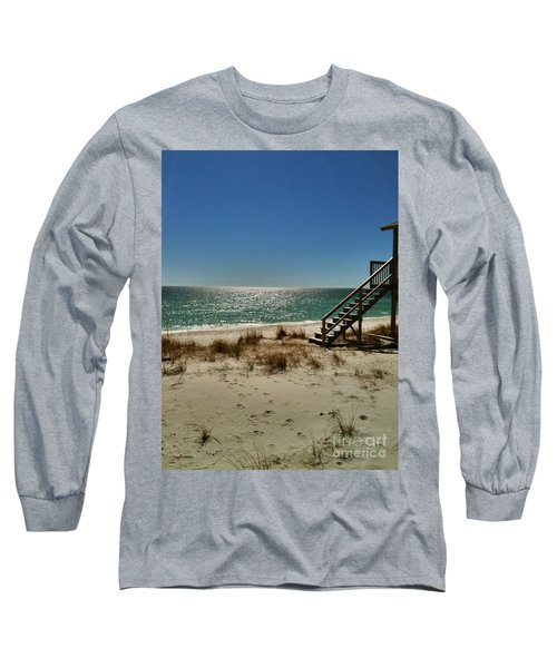 Long Sleeve T-Shirt featuring the photograph Navarre Beach by Janice Spivey