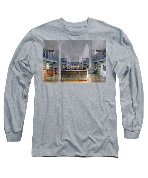 Long Sleeve T-Shirt featuring the photograph Nebraska State Capitol Library by Art Whitton