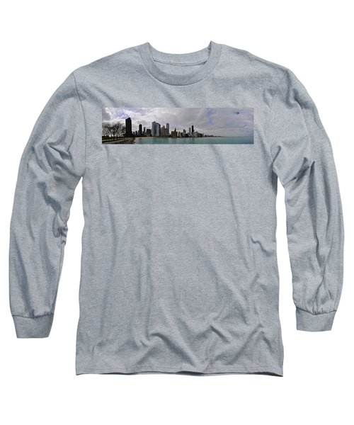 Long Sleeve T-Shirt featuring the photograph North Of Navy Pier From The Series Chicago Skyline by Verana Stark