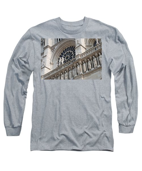 Long Sleeve T-Shirt featuring the photograph Notre Dame Details by Jennifer Ancker