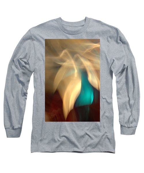 Long Sleeve T-Shirt featuring the mixed media O'keefe II by Terence Morrissey