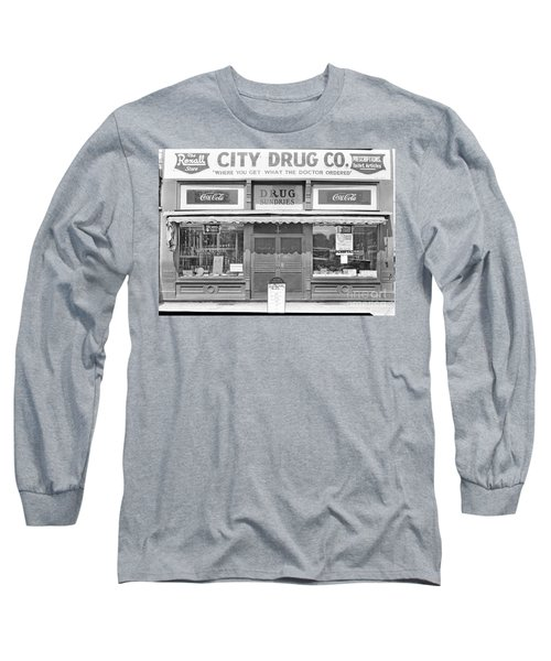 Old Drug Store Circa 1930 Long Sleeve T-Shirt