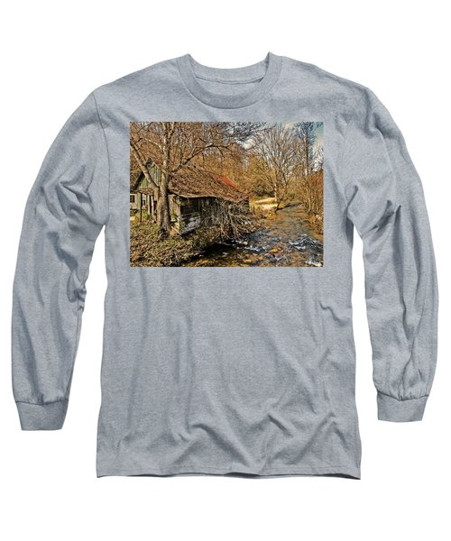 Old Home On A River Long Sleeve T-Shirt by Susan Leggett