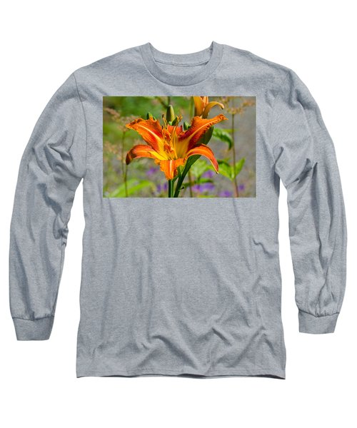 Long Sleeve T-Shirt featuring the photograph Orange Day Lily by Tikvah's Hope
