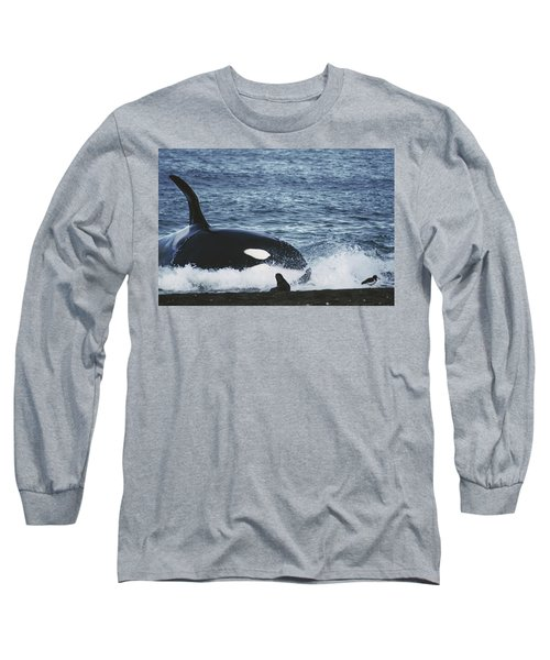 Orca Orcinus Orca Hunting South Long Sleeve T-Shirt