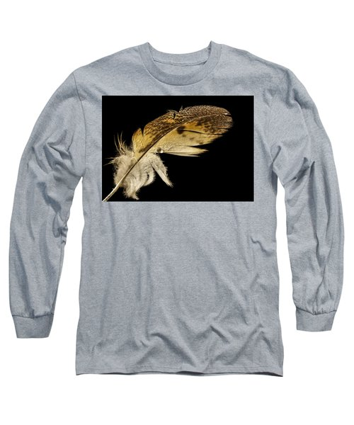 Owl Feather With Water Long Sleeve T-Shirt