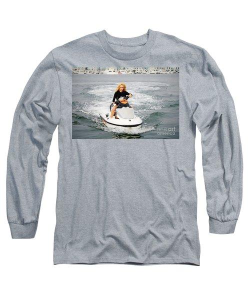 Pamela Anderson Is A Jet Ski Vixen Long Sleeve T-Shirt