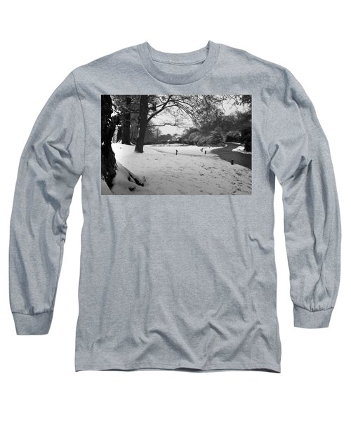 Long Sleeve T-Shirt featuring the photograph Park Cottage by Maj Seda