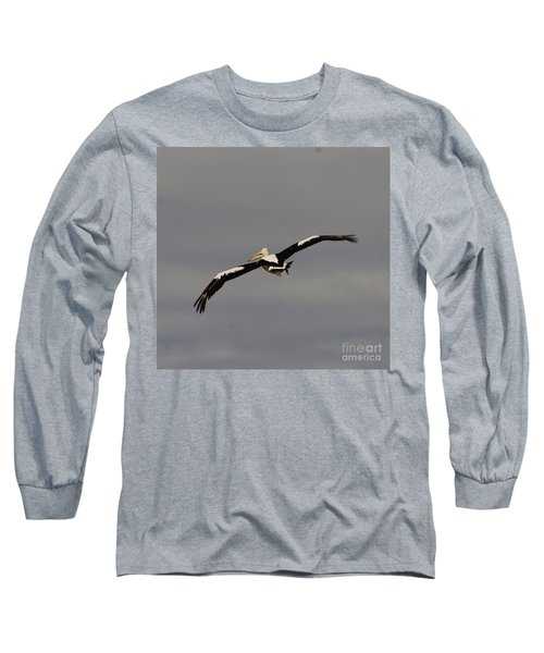 Long Sleeve T-Shirt featuring the photograph Pelican In Flight 2 by Blair Stuart