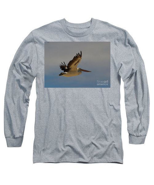 Long Sleeve T-Shirt featuring the photograph Pelican In Flight 5 by Blair Stuart