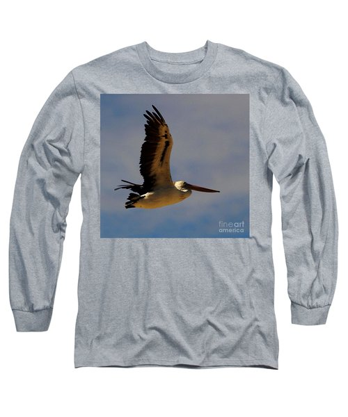 Long Sleeve T-Shirt featuring the photograph Pelican In Flight by Blair Stuart