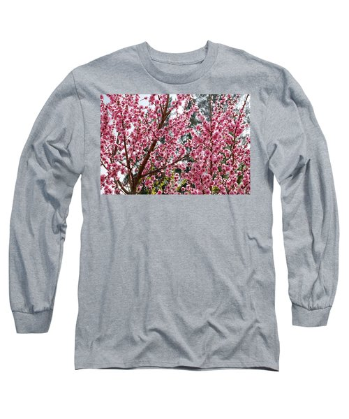 Long Sleeve T-Shirt featuring the photograph Pink Flood by Fotosas Photography
