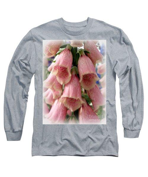 Pink Foxglove Long Sleeve T-Shirt