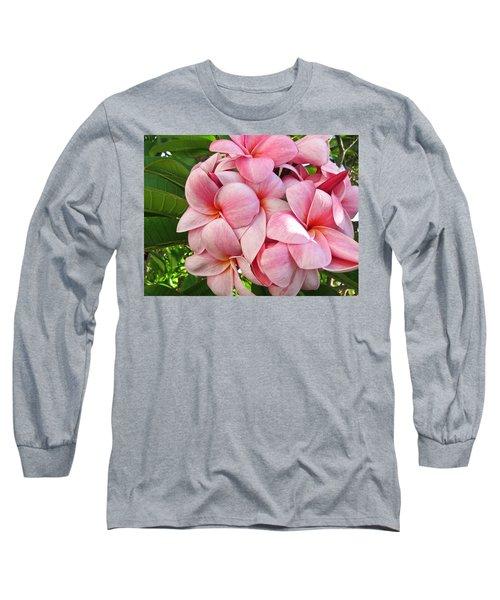 Pink Plumerias Long Sleeve T-Shirt