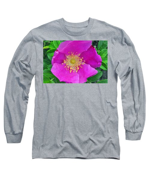 Long Sleeve T-Shirt featuring the photograph Pink Portulaca by Tikvah's Hope