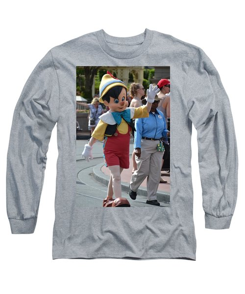 Pinocchio Long Sleeve T-Shirt by Bonnie Myszka