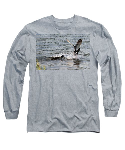 Long Sleeve T-Shirt featuring the photograph Playing Chase by Kathy  White