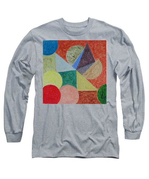 Long Sleeve T-Shirt featuring the painting Polychrome by Sonali Gangane