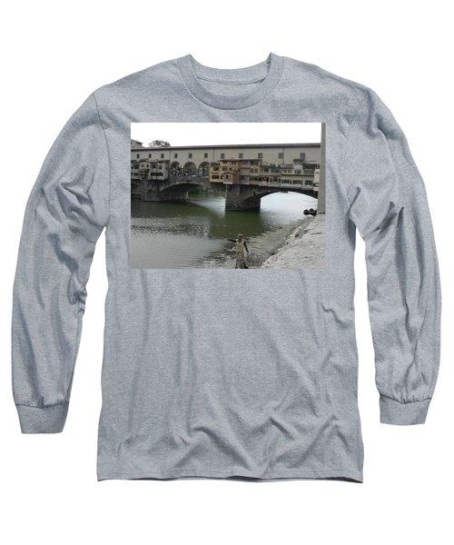 Long Sleeve T-Shirt featuring the photograph Ponte Vecchio by Laurel Best