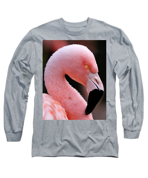 Portrait Of A Flamingo Long Sleeve T-Shirt