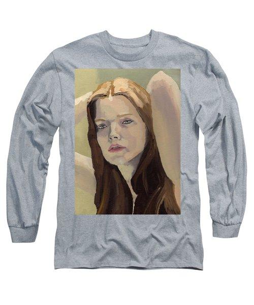 Portrait Of Ashley Long Sleeve T-Shirt