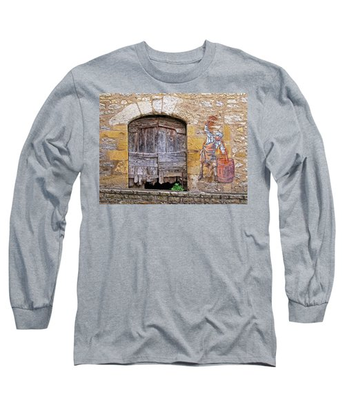 Long Sleeve T-Shirt featuring the photograph Provence Window And Wall Painting by Dave Mills