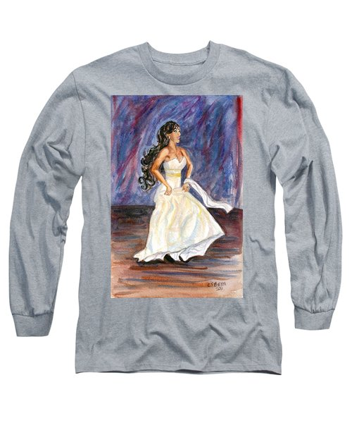 Long Sleeve T-Shirt featuring the painting Rachel by Clara Sue Beym
