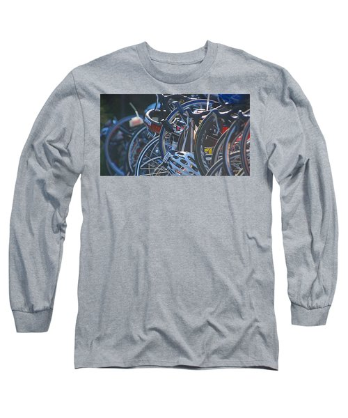 Long Sleeve T-Shirt featuring the photograph Racing Bikes by Sarah McKoy