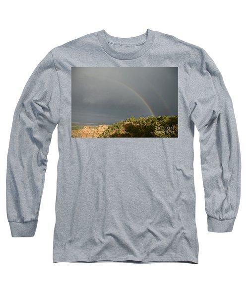 Rainbow At Grand Canyon Long Sleeve T-Shirt