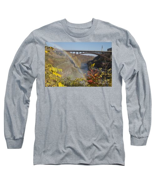 Long Sleeve T-Shirt featuring the photograph Rainbow At Lower Falls by William Norton